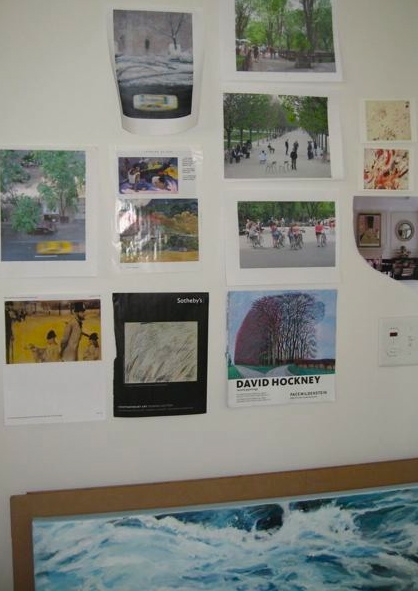 "A small part of ""The Wall"" in my studio."