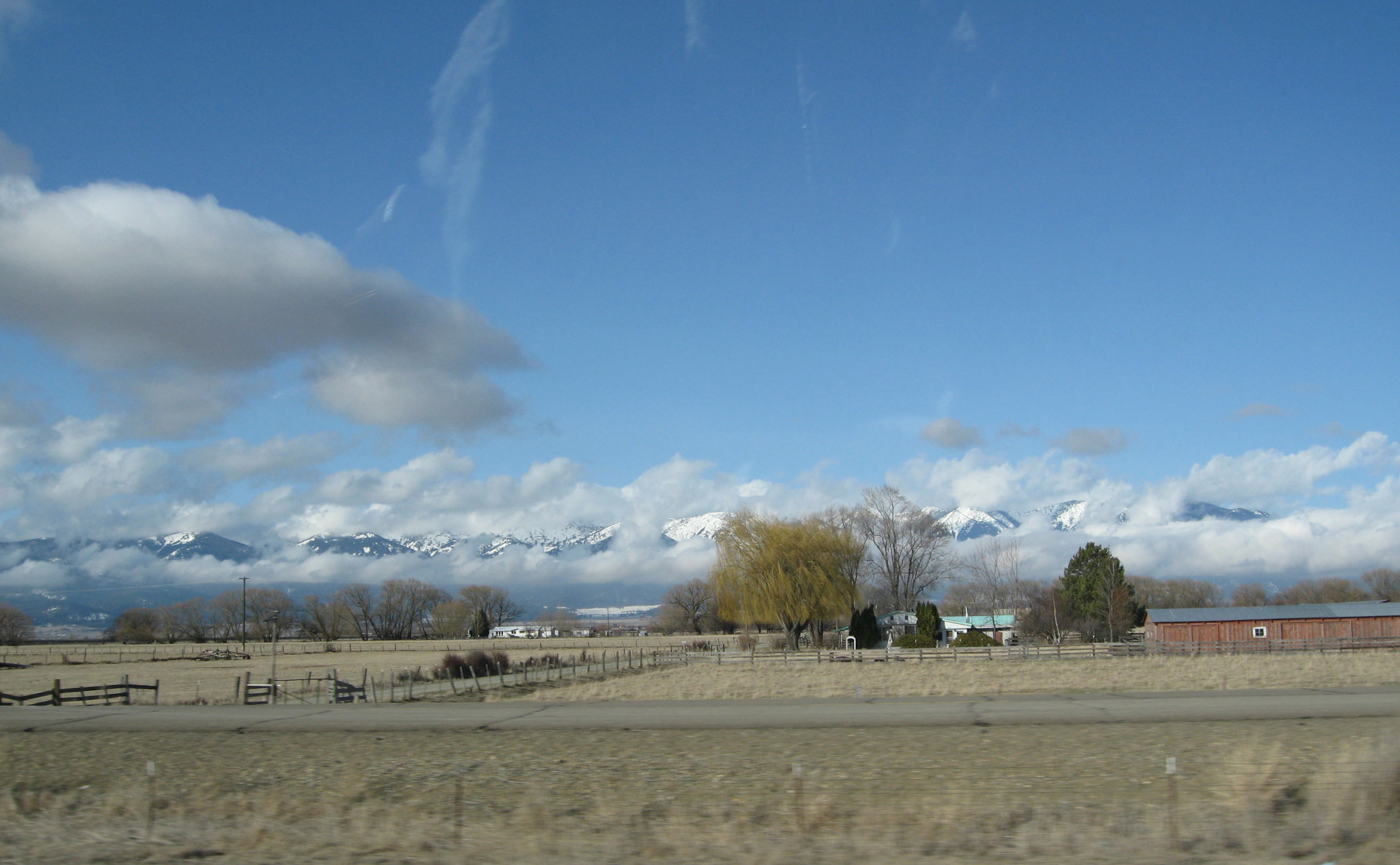 "Driving cross country, we understood what they meant by ""big sky country"". Photo by me"