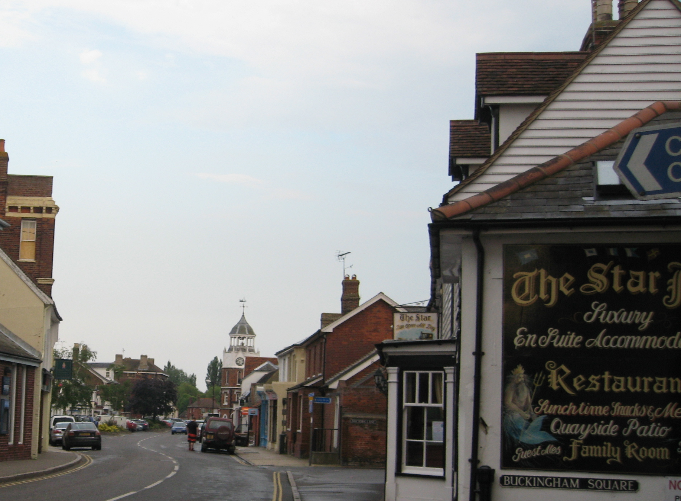 "The ""High"" Street in Burnham has several pubs up and down.  Many have their favorite, or ""local"". Photo by me"