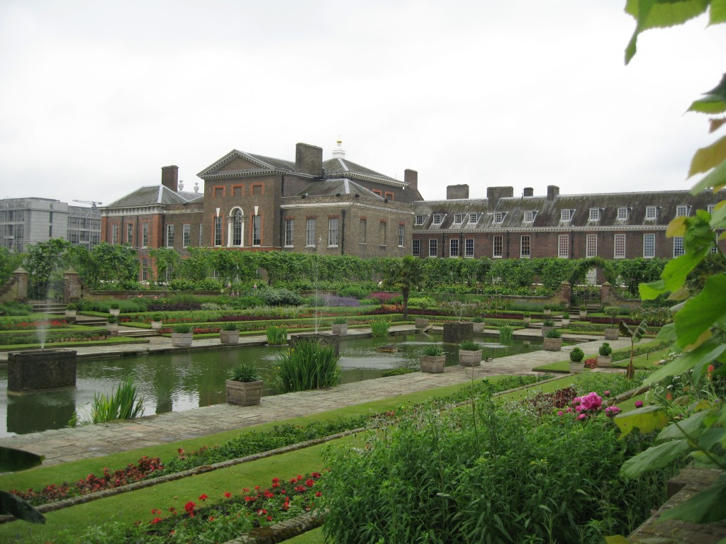 Kensington Palace from the Sunken Garden in June. Photo by me.