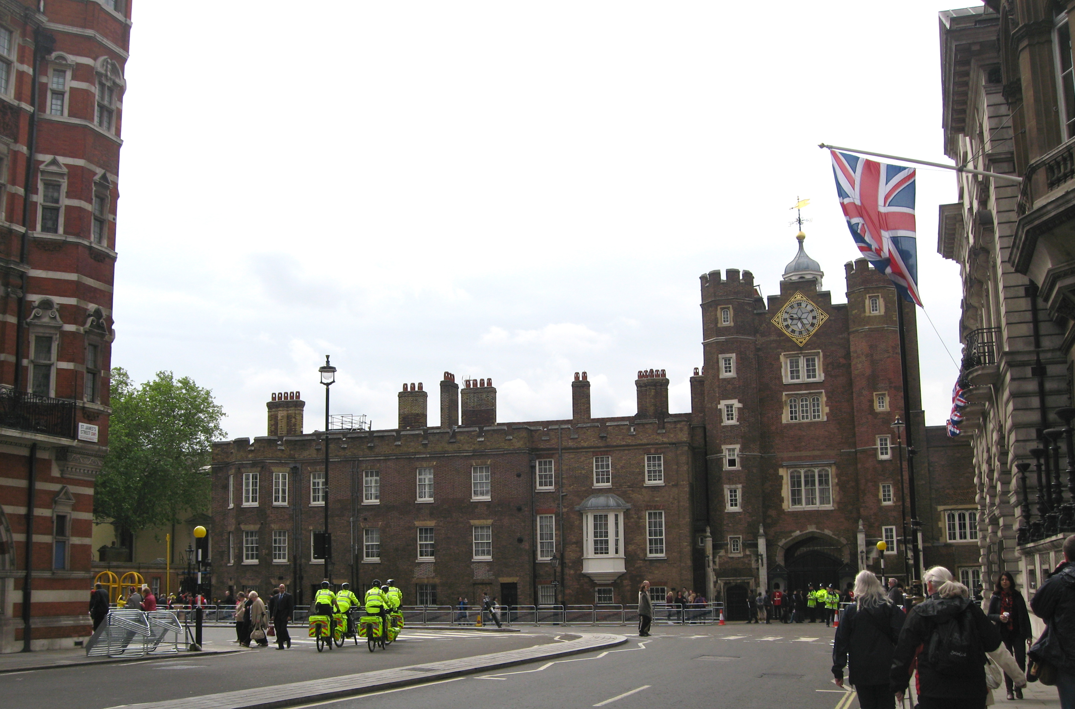 St James's Palace during Jubilee Week. Photo by me.