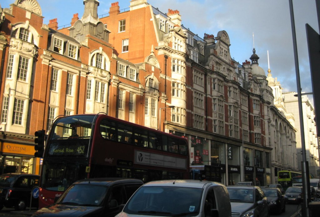 Kensington High Street. Photo by me