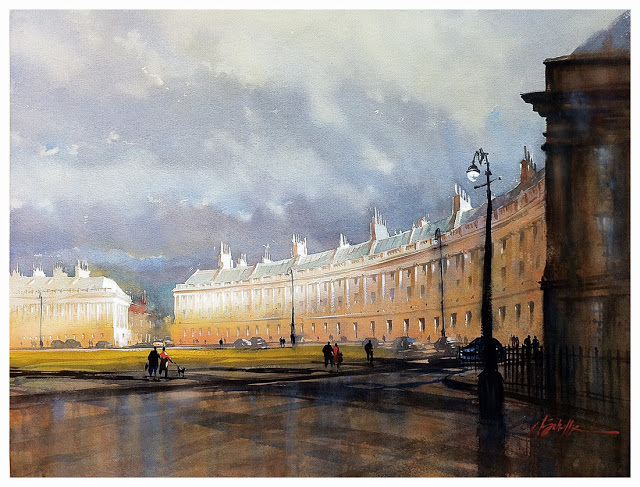 Royal Crescent-Bath, England, Thomas W. Schaller