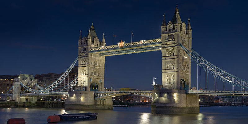 Tower Bridge. Photo: Photo by DAVID ILIFF. License: CC-BY-SA 3.0
