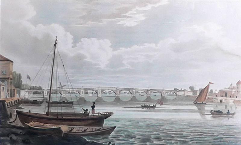 A view of James Walker's Regent's Bridge of 1816. Artist Unknown.