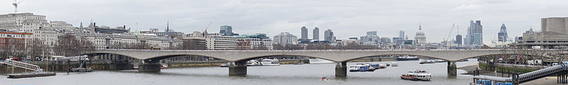 Waterloo Bridge, London.Photo: Colin, Wikimedia Commons