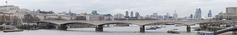 Waterloo Bridge, London.Photo: Colin, Wikimedia Commons