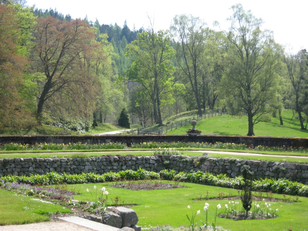 A very warm, sunny day in the gardens at Balmoral in Scotland in June. Photo by me.