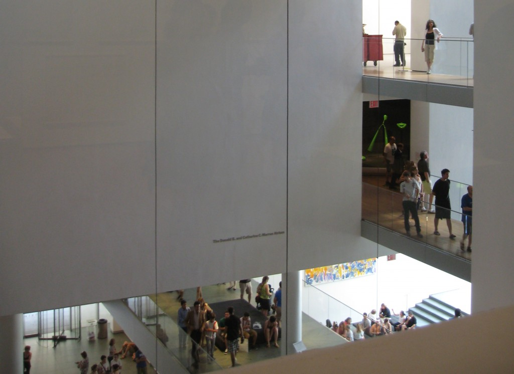 The Lobby from above, MOMA in NYC. Photo by me