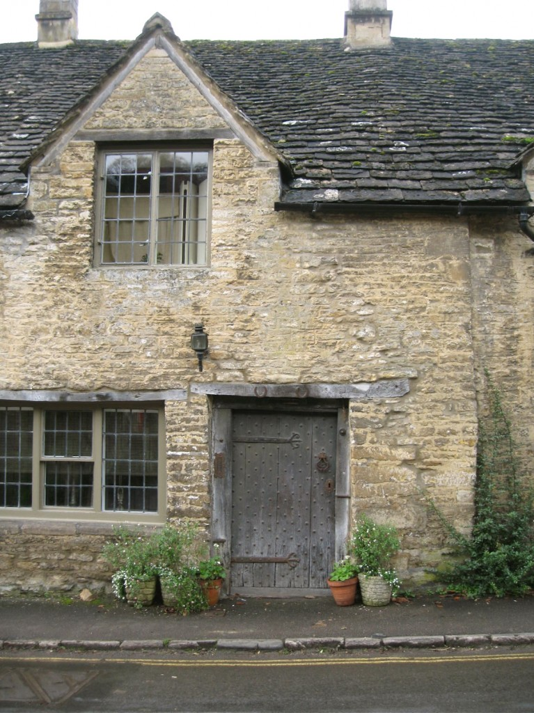 A more prominent shingle roof in Castle Combe. Photo by me.