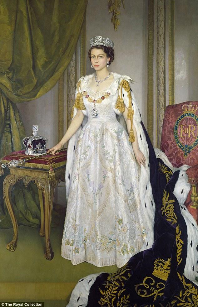 Queen Elizabeth II in  Young Queen Elizabeth 1 Dress