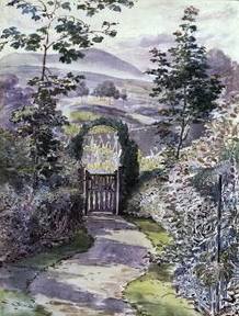 The Garden at Ees Wyke, Sawrey, 1902, Beatrix Potter