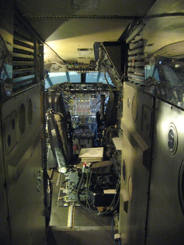 The cockpit of the Concord. Photo by me.