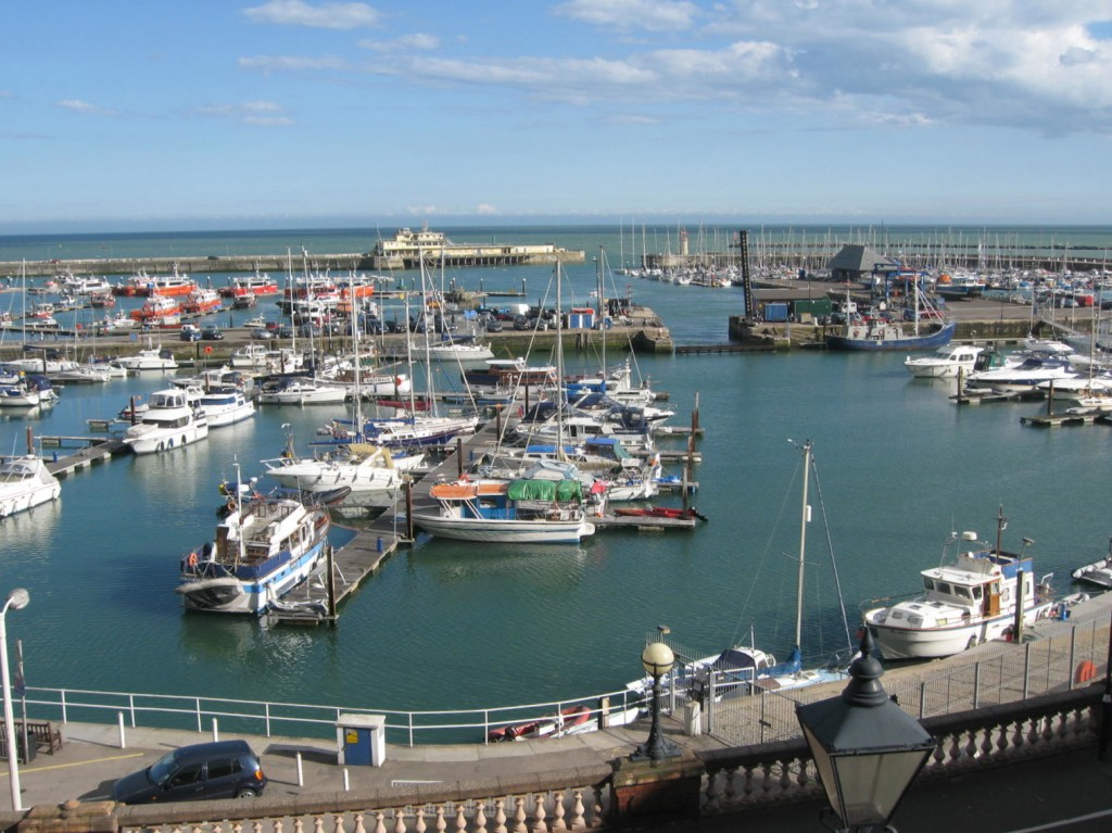 Boats at the ready for Ramsgate Week. Photo by me.