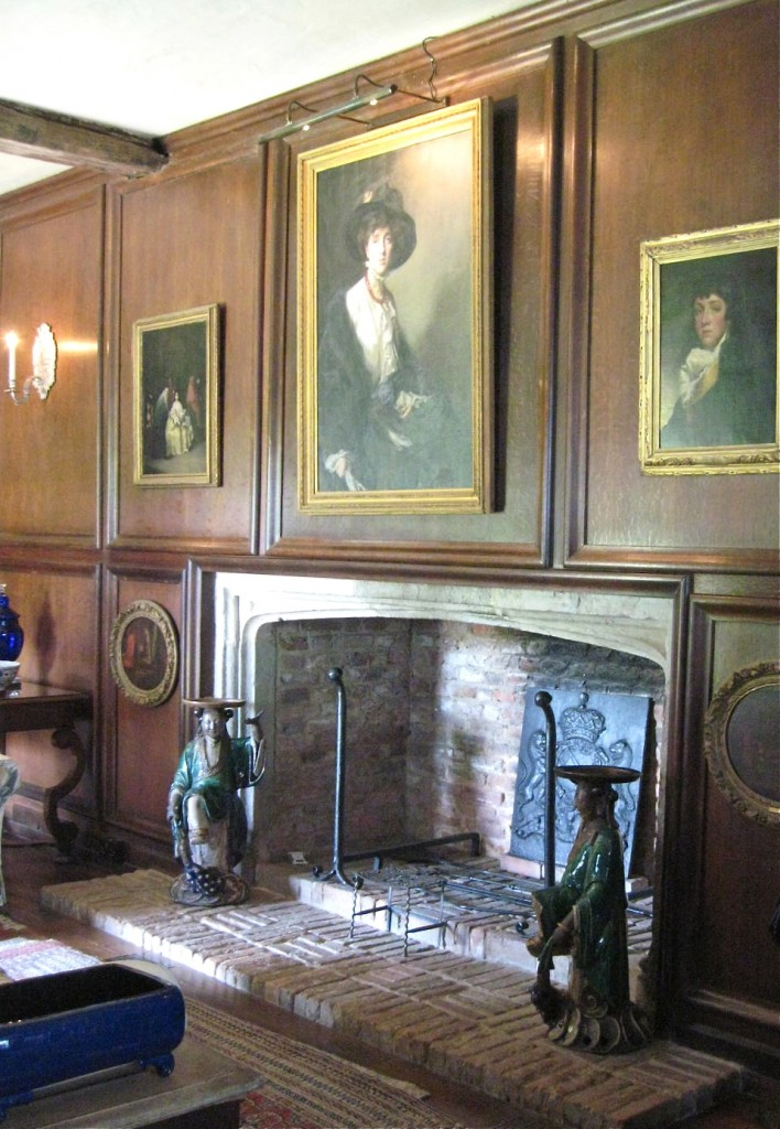 The library at Sissinghurst with Vita's portrait over the fireplace. Photo by me.