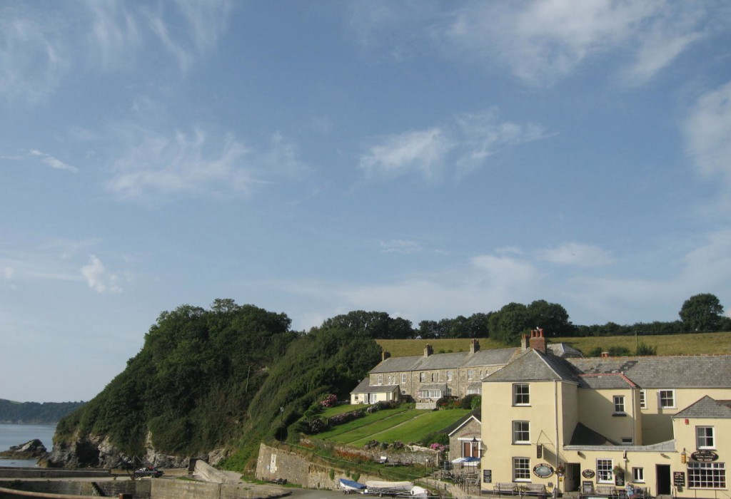 The bottom of the town near the sea, where the footpath up the cliff begins. Photos by me.