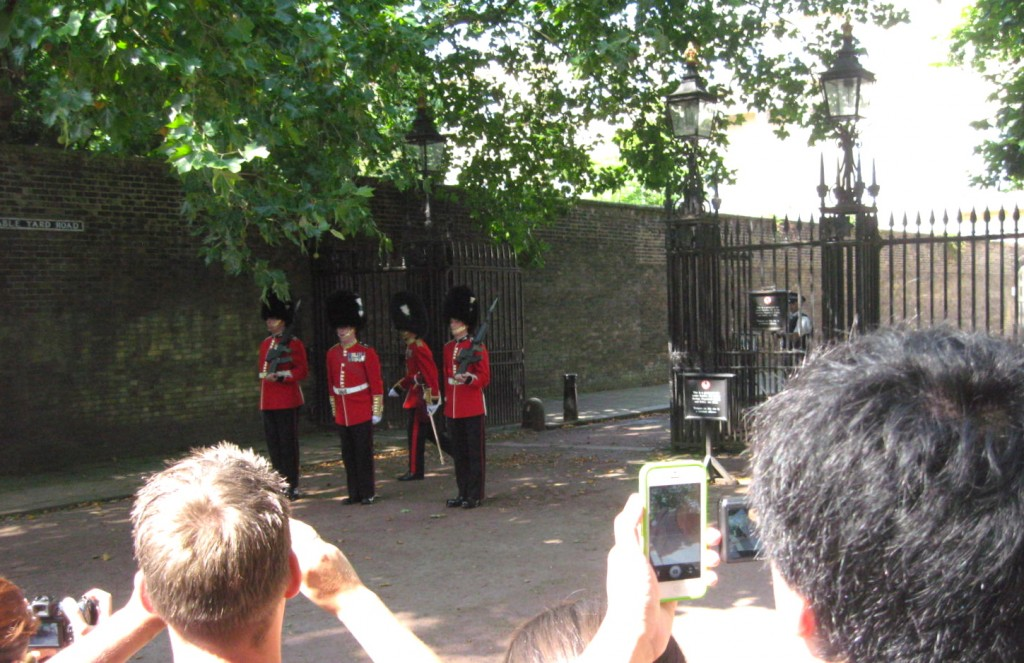 The changing of the guard in front of Clarence House. Photo by me.