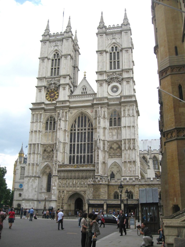 Westminster Abbey in August. Photo by me.