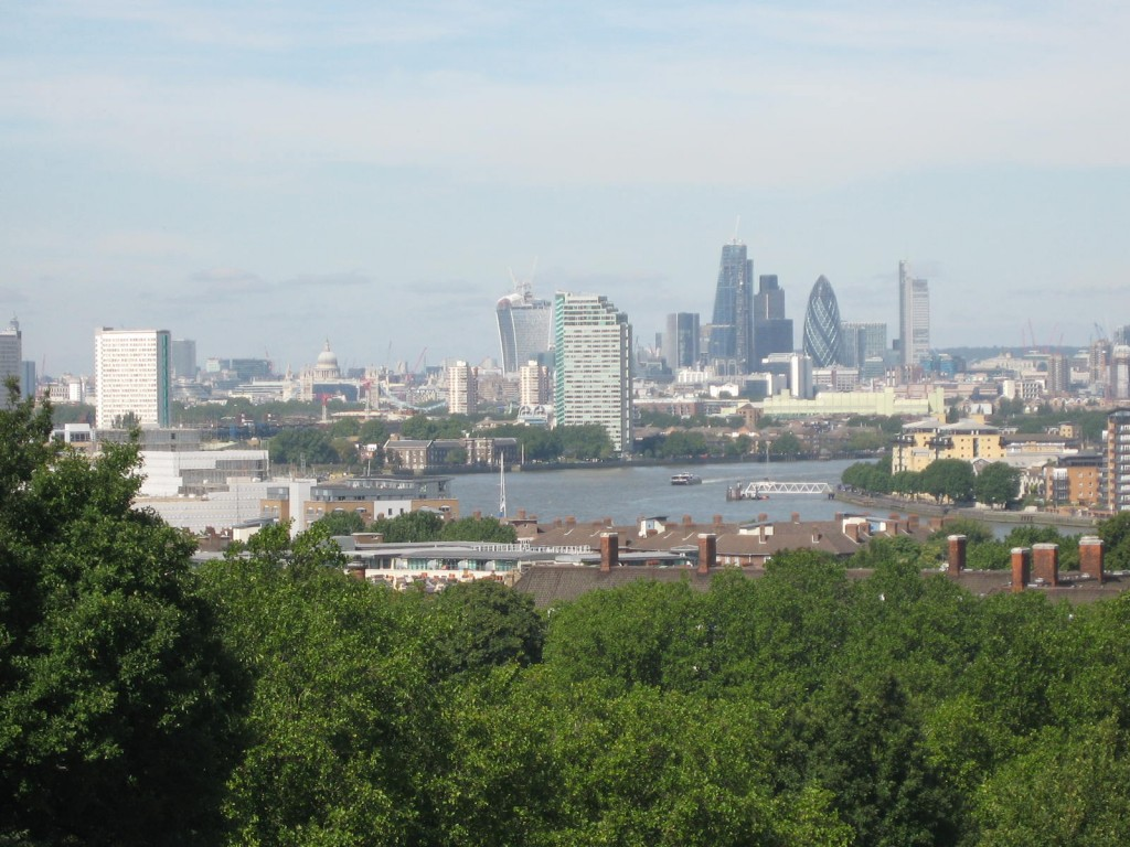 The City of London in the distance. Photo by me.