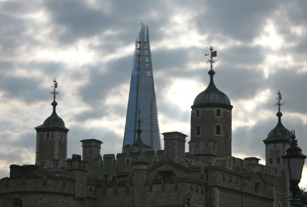 "The ""Shard"" and The Tower of London. Photo by me"
