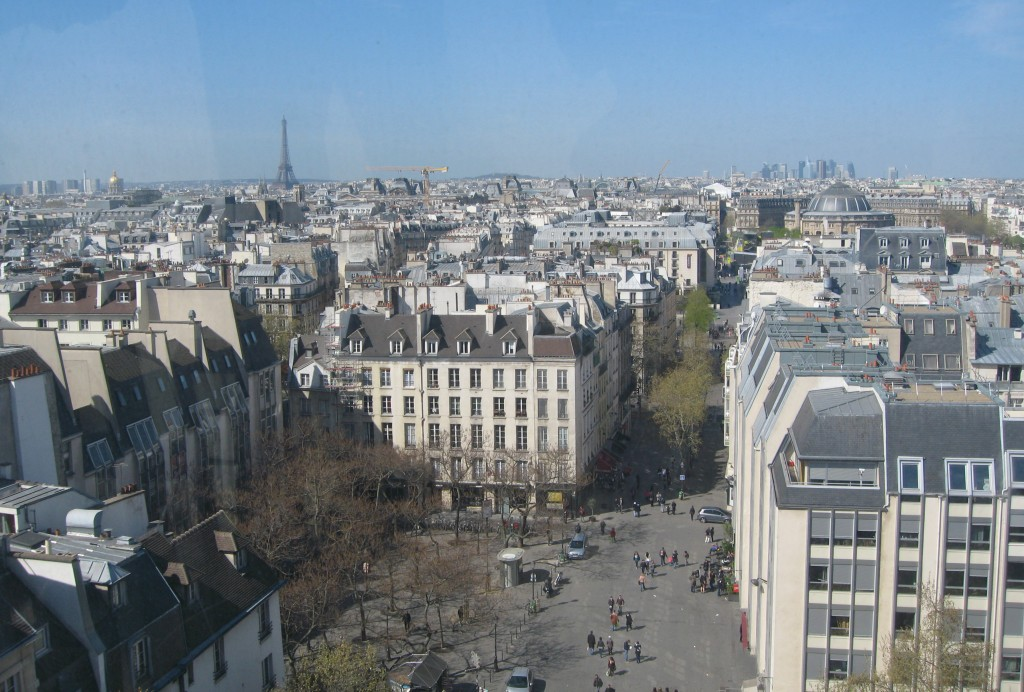The view from the museum rooftop in Paris. Photo by me.