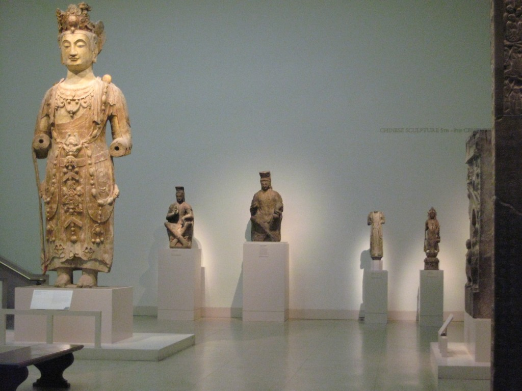 In the Asia wing, these classic statues...