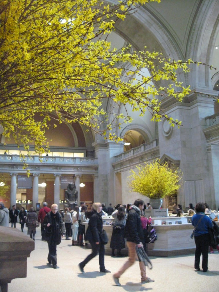 The lobby of the Metropolitan Museum of Art.