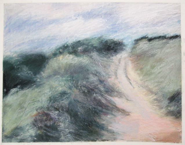 """Coastal Path"", pastel drawing by me from  my walk in Wales"