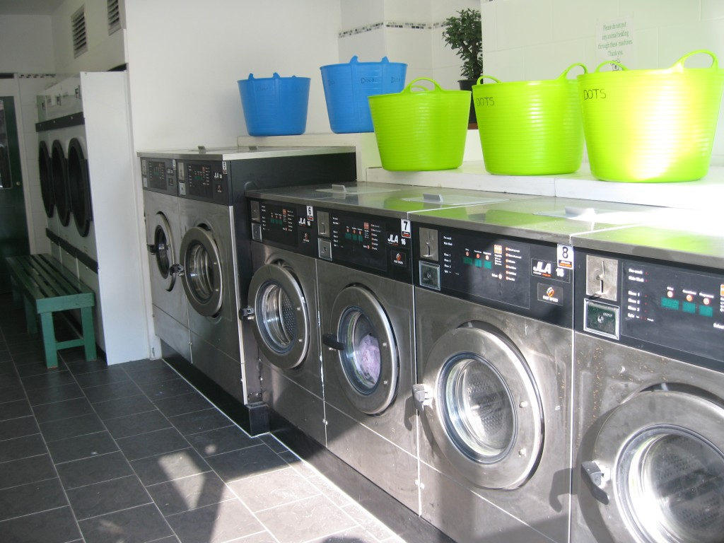 A laundrette in England