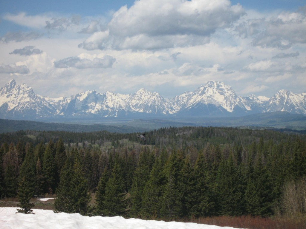 Cutting across the mountains to Jackson Hole Wyoming
