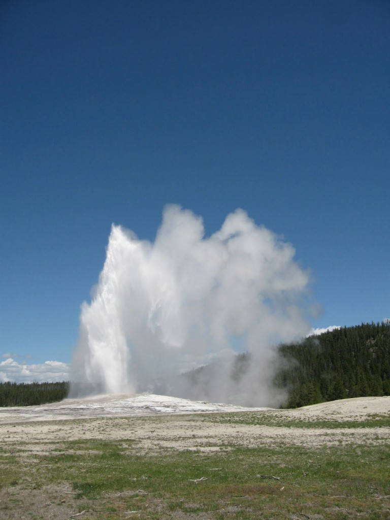 Old Faithful…I can't imagine how crowded it would be in high season.  We went late spring, and the crowds were very manageable.