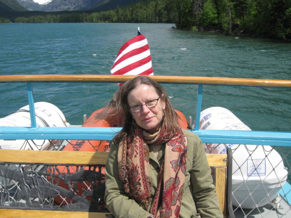 Celebrating my birthday on a boat on Lake McDonald in Glacier National Park, Montana.