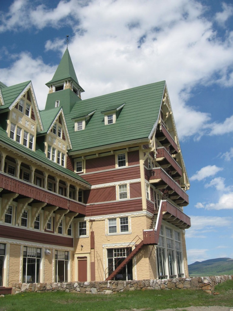 The Prince of Wales Hotel on the Canadian side of Glacier National Park. Spectacular on the outside. Way too noisy and basic inside.