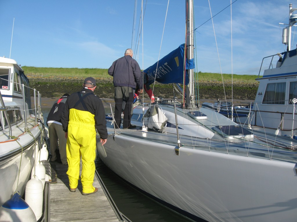 Getting ready for a sail in Burnham-on-Crouch, England.